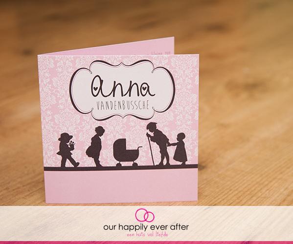 Geboortekaartje Anna en doopsuiker