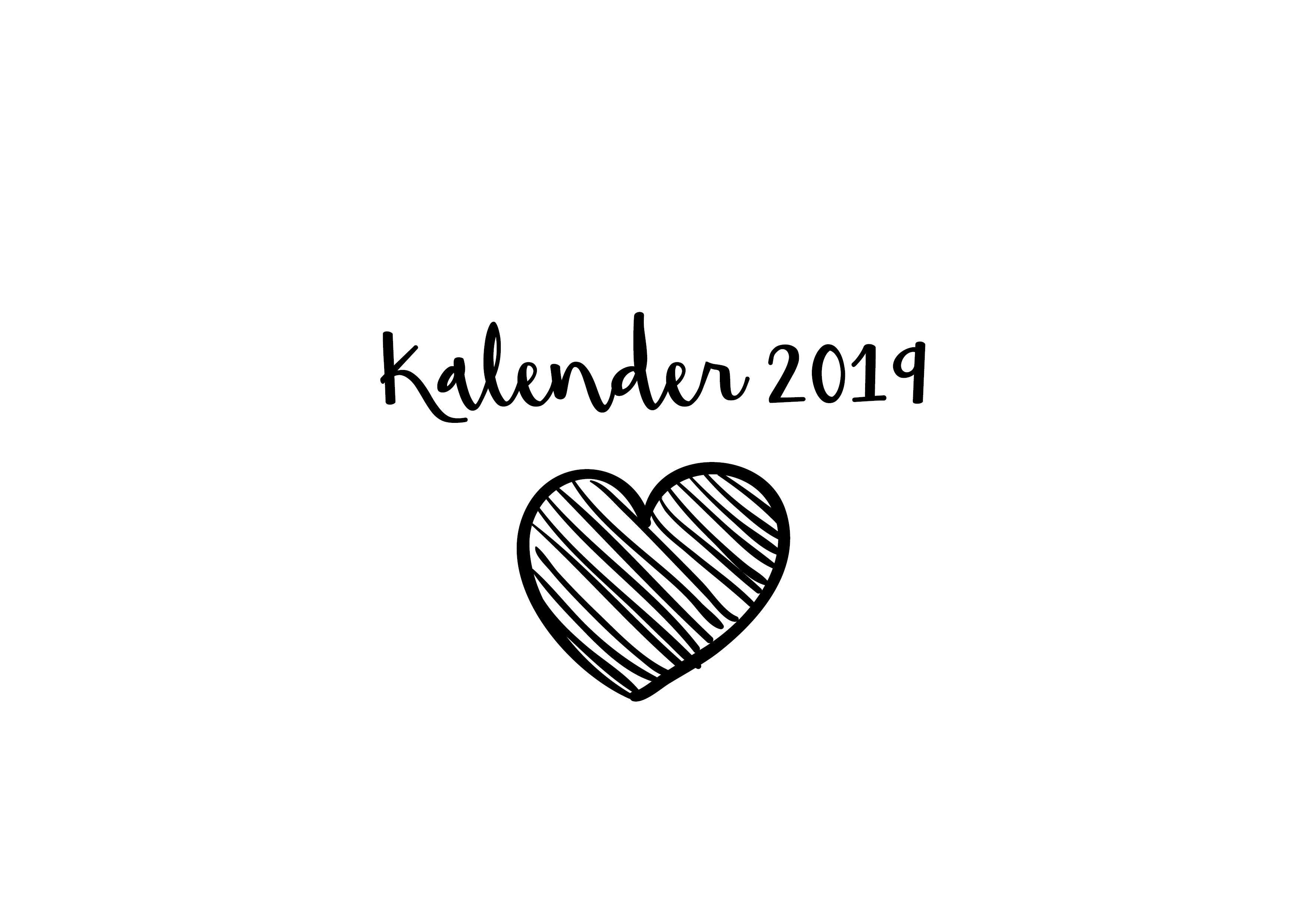 Favoriete Kalender 2019 zelf afprinten thuis - Duidelijkheid - Sofie Lambrecht @NQ81