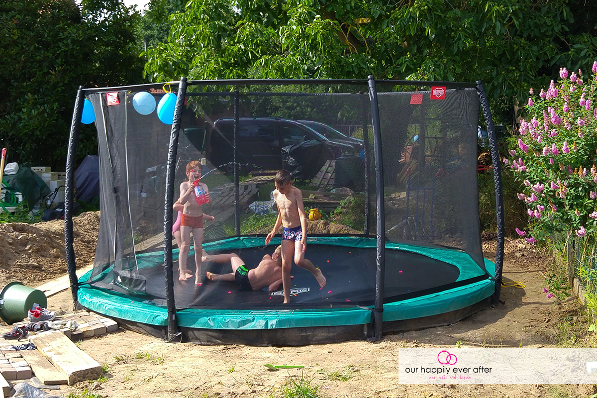 berg inground trampoline our happily ever after ohea