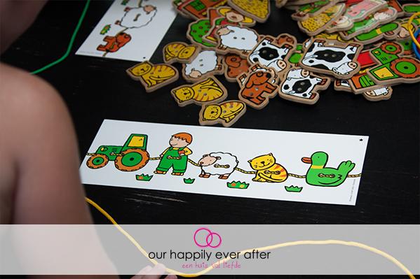 farandole rijgen rijgspel fijne motoriek educatief speelgoed our happily ever after ohea