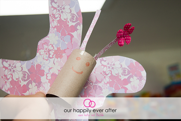 vlinder maken met wc rolletje knutselen kinderen our happily ever after ohea