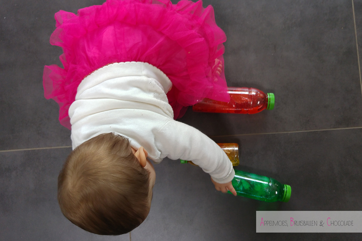 herfst sensory bottles diy appelmoes bruisballen chocolade mamaabc mama blog