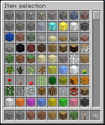 Minecraft inventaris in Creative Mode - Samen minecraft spelen