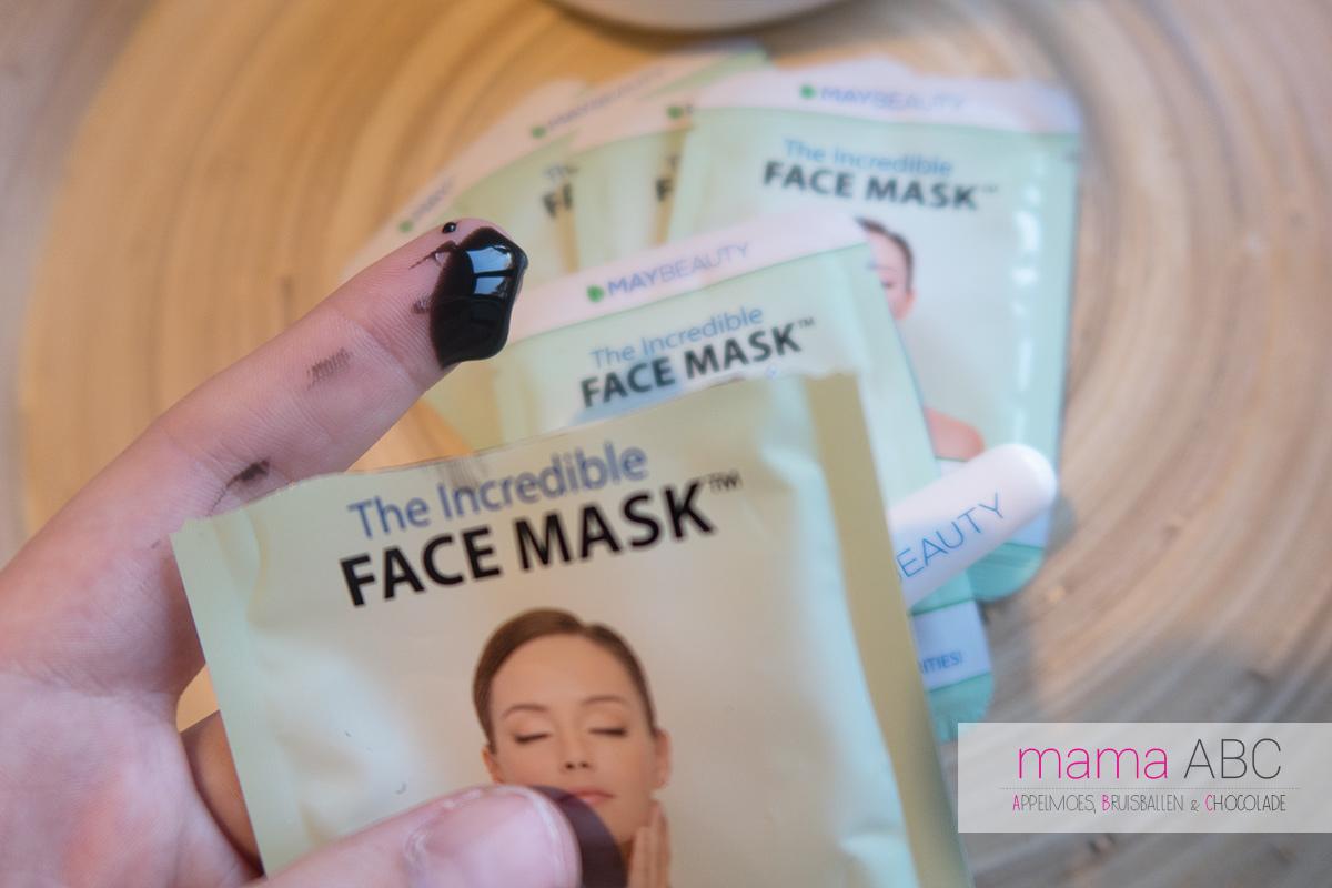 review gezichtsmasker incredible face mask maybeauty mamaabc abc mama blog