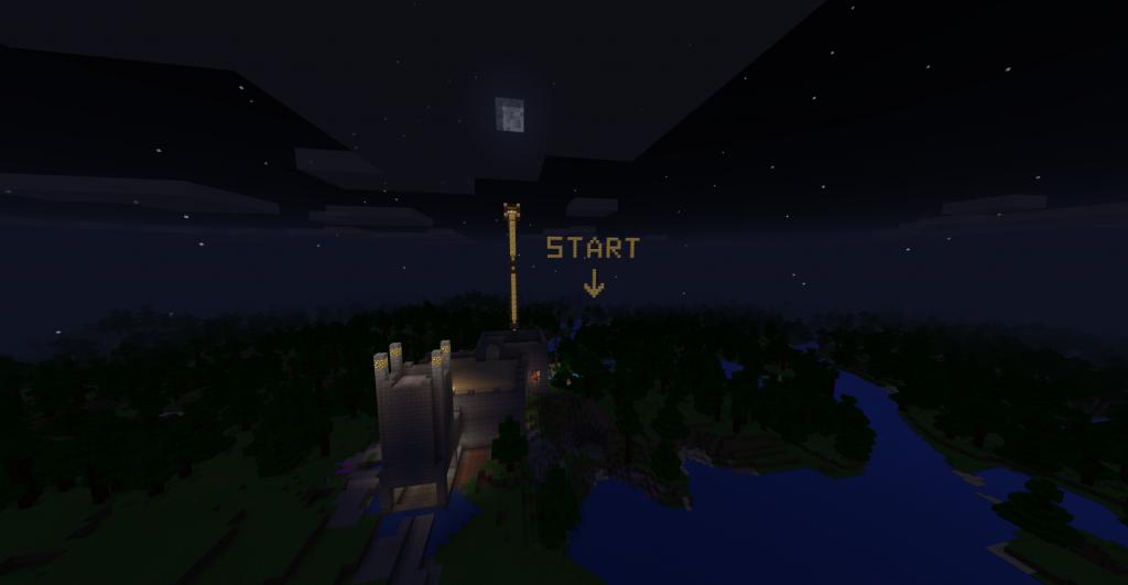 Aanduidien van start in minecraft - Samen minecraft spelen