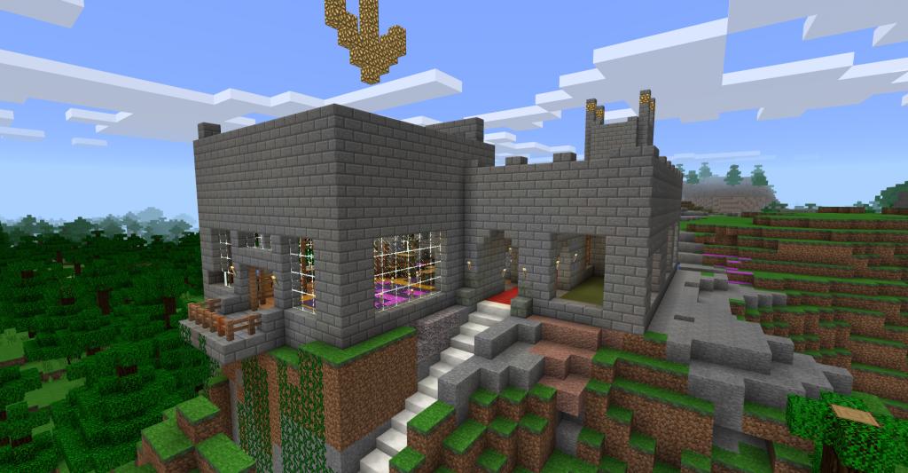 Het kasteel in Minecraft - Samen minecraft spelen