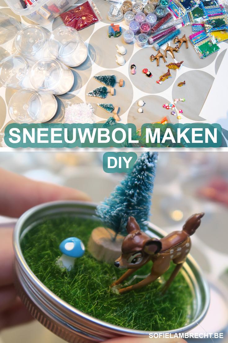 kinderactiviteiten binnen - DIY: zelf een sneeuwbol maken