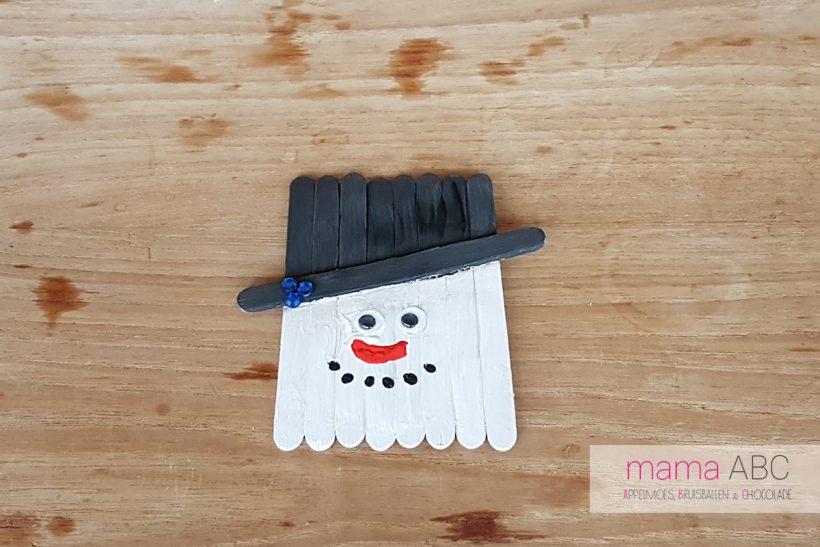 sneeuwpop kerstversiering maken mama abc mamaabc blog