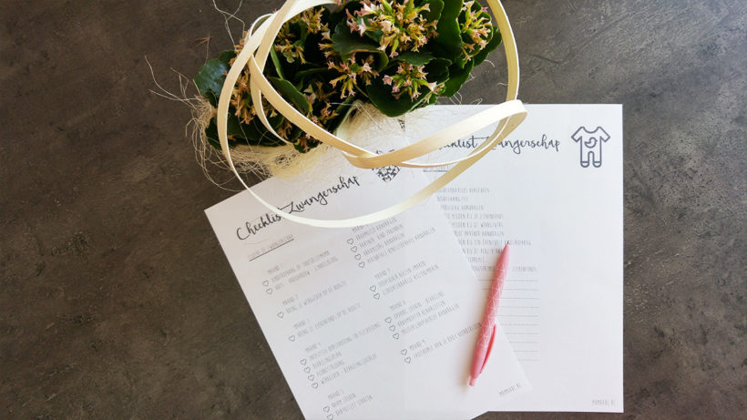 checklist zwangerschap mama abc blog