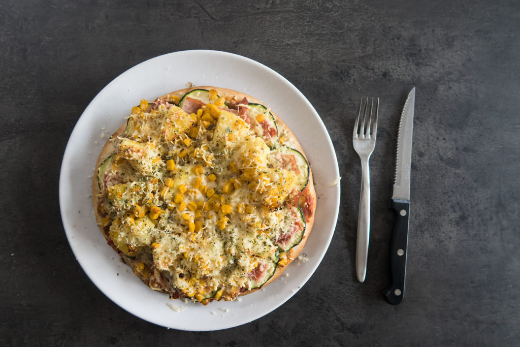 Bloemkool bodem Pizza Recept Dieet Sofie Lambrecht Mama ABC