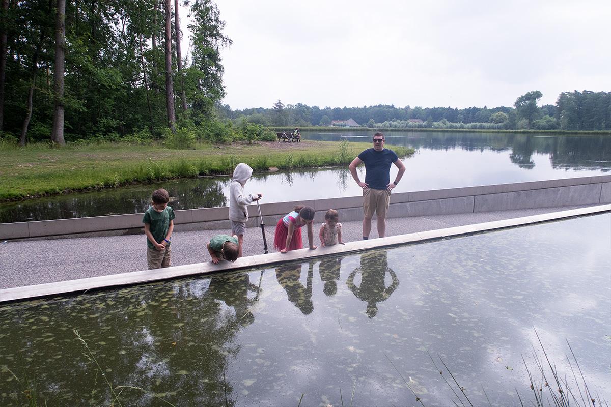 Fietsen door het water Bokrijk Sofie Lambrecht
