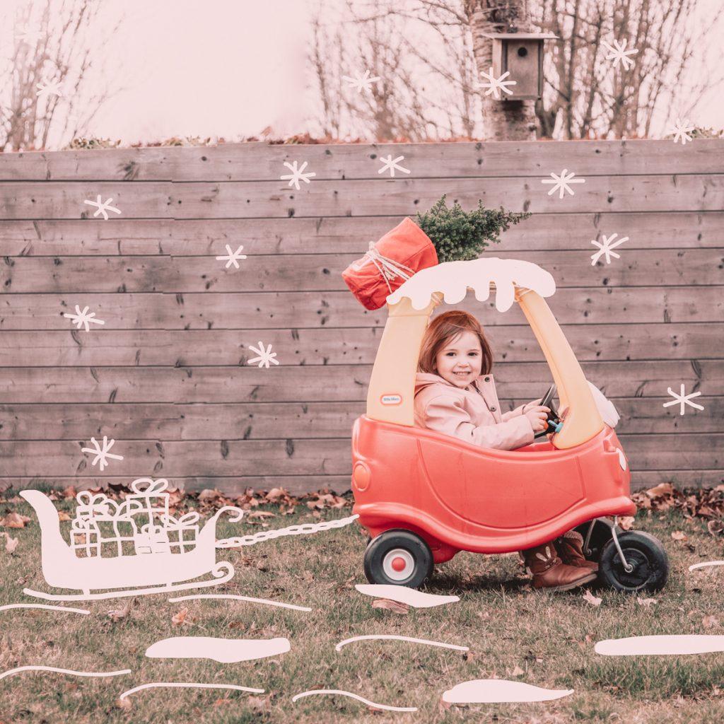 Kerstfoto met peuter