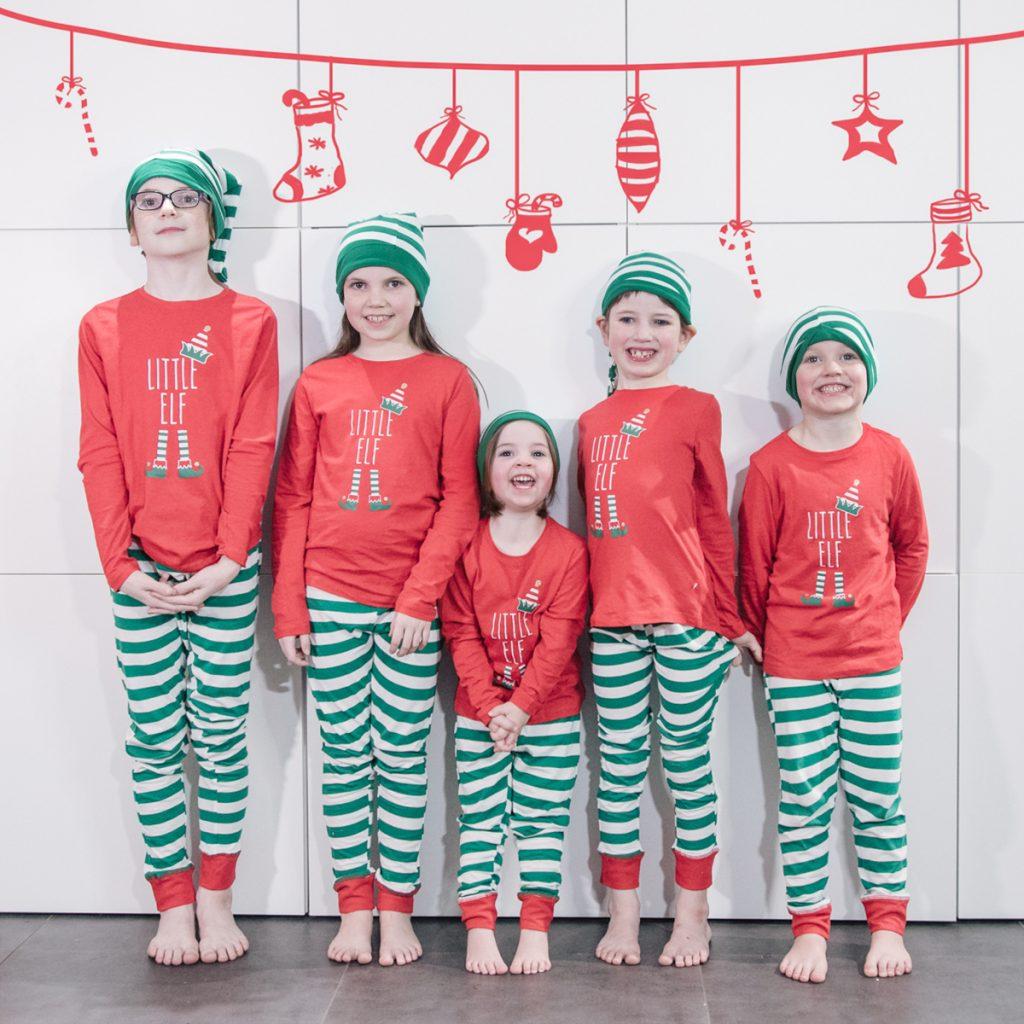 Kerstfoto kerstkaart kinderen
