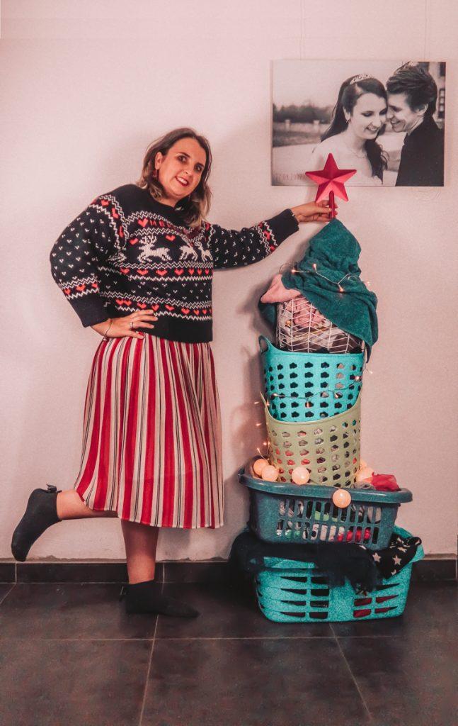 Kerstboom van wasmanden Sofie Lambrecht