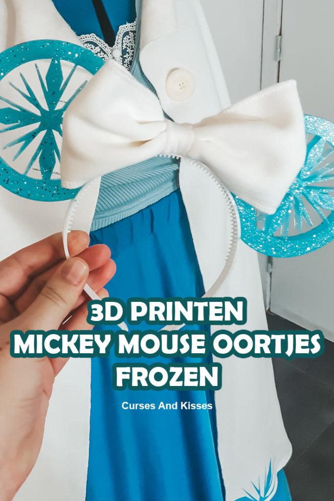 3D PRINTEN MICKEY MOUSE EARS FROZEN THEMA