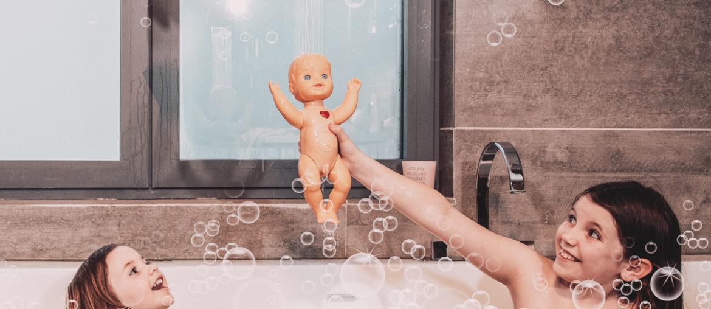 Badkamer tips met kinderen