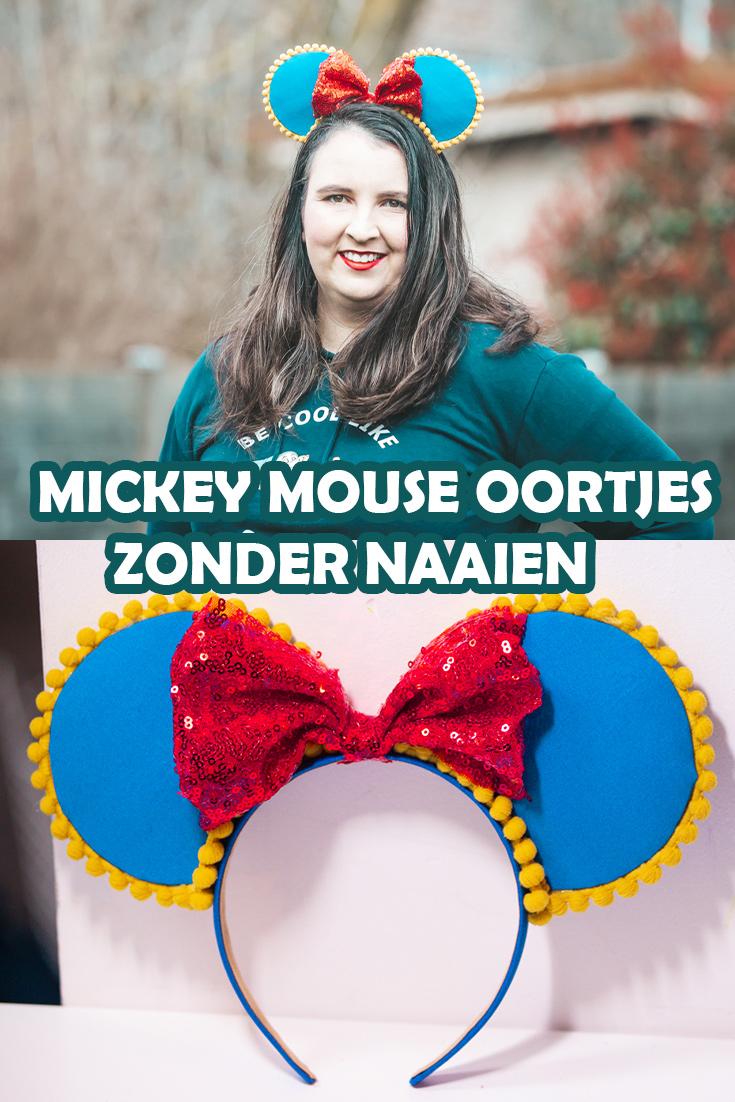 Mickey Mouse oortjes maken zonder naaien - Tutorial om heel makkelijk zelf je Mickey Mouse oortjes te maken zonder naaimachine
