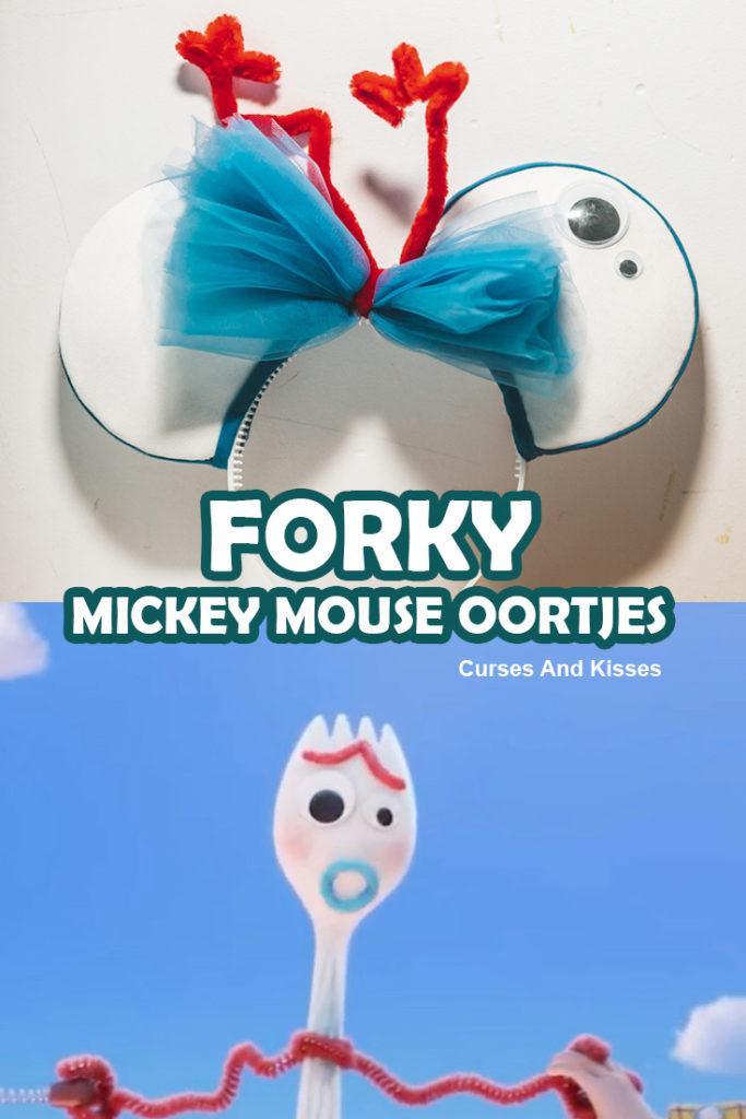 Forky Mickey Mouse oortjes maken