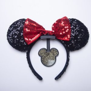 Mickey Mouse Ear Hanger for the Wall with gold glitter - Curses and Kisses
