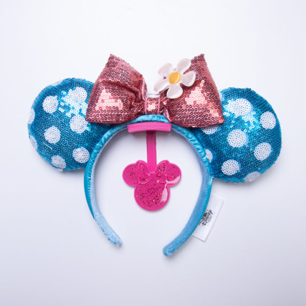Mickey Mouse Ear Hanger for the Wall with pink glitter - Curses and Kisses