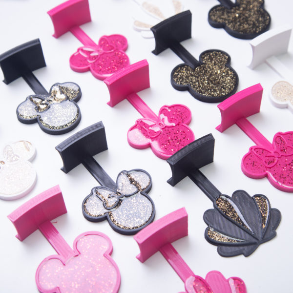Mickey Mouse Ear Hanger for the Wall with glitter - Curses and Kisses