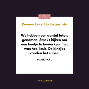 Level Up Gezinsfoto Sofie Lambrecht