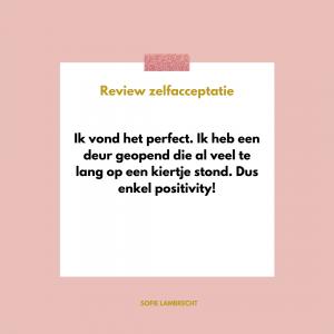 5 dagen zelfacceptatie gratis challenge van Sofie Lambrecht